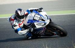 24 HEURES DE RÉSISTANCE DE MOTOCYCLISME DE BARCELONE Images stock