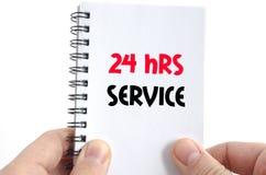 24 heures de service de concept des textes Photo libre de droits