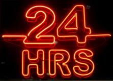 24 heures de signe Photos libres de droits