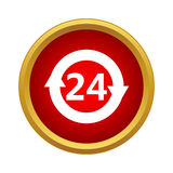 24 heures de support à la clientèle d'icône de service Photos stock