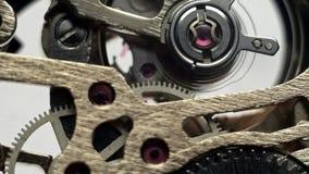 Heures de vitesse fonctionnant le mécanisme d'horloge banque de vidéos