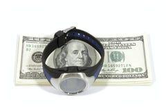 Heures et dollars Images libres de droits