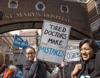 48 heures toute frappent pour Junior Doctors, le 26 avril 2016 Photo libre de droits