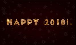 2018 heureux ! illustration libre de droits