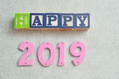 2019 heureux Photo stock