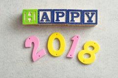 2018 heureux Photographie stock