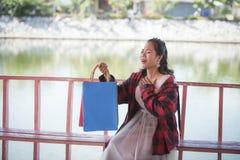 Heureux achats d'amour des achats I de cadeau des cadeaux Images stock