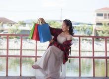 Heureux achats d'amour des achats I de cadeau des cadeaux Image stock