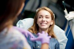 Heureux avec le patient Images libres de droits