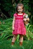 Heureux avec le tigre Photos stock