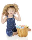 Heureux avec son chapeau en lambeaux image libre de droits