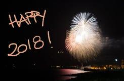 ` 2018 heureux de ` Photos stock