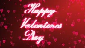 ` Heureux de jour du ` s de Valentine de ` le ruban rougeoyant écrit par ` heureux de jour du ` s de Valentine de ` d'inscription illustration libre de droits
