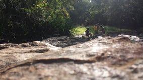 Heureux en rivière Image stock