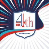 Heureux le 4ème juillet, conception de vecteur de Jour de la Déclaration d'Indépendance des Etats-Unis Image stock