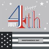 Heureux le 4ème juillet, conception de vecteur de Jour de la Déclaration d'Indépendance des Etats-Unis Photographie stock