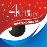 Heureux le 4ème juillet, conception de vecteur de Jour de la Déclaration d'Indépendance des Etats-Unis Images libres de droits