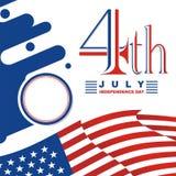 Heureux le 4ème juillet, conception de vecteur de Jour de la Déclaration d'Indépendance des Etats-Unis Photographie stock libre de droits