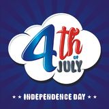 Heureux le 4ème juillet, conception de vecteur de Jour de la Déclaration d'Indépendance des Etats-Unis Photos libres de droits