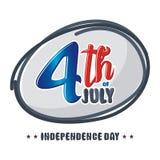 Heureux le 4ème juillet, conception de vecteur de Jour de la Déclaration d'Indépendance des Etats-Unis Images stock
