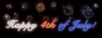 Heureux le 4ème juillet, Jour de la Déclaration d'Indépendance Images stock