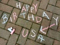 Heureux le 4ème juillet, joyeux anniversaire Etats-Unis Photographie stock