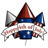 Heureux le 4ème juillet Images libres de droits