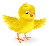 Heureux mignon petite nana jaune de Pâques Photos stock
