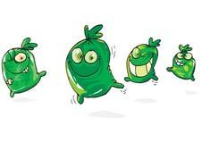 heureux vert de sacs illustration stock