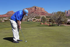 Heurter un putt dans Sedona Photo stock