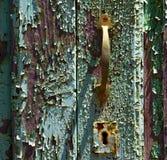 Heurtoir brun en laiton i de canarias abstraits de l'Espagne Photo stock