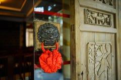 Heurtoir de porte d'airain, Chine image stock