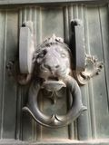 Heurtoir de trappe de lion image libre de droits