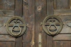 Heurtoirs de porte antiques image libre de droits