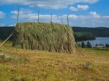 Heuschober in Karelien Lizenzfreie Stockfotografie