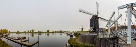 Heusden netherlands high definition panoramic view royalty free stock photos