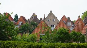 Heusden, the Netherlands. Rooftops in Heusden, a historical and fortified village in the Netherlands stock photo