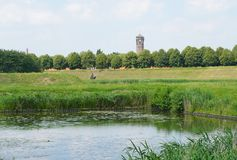 Heusden, the Netherlands. View towards Heusden, a historical and fortified village in the Netherlands stock photo