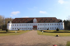Heusenstamm chateau. The great entrance area of the Heusenstamm chateau royalty free stock images