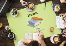 Heute ` s spezielles schnelles Rezept-Menü-Mittagessen-Konzept Lizenzfreie Stockfotografie