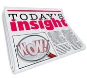 Heutige Einblick-Zeitungs-Schlagzeilen-Informations-Aktualisierungs-Analyse lizenzfreie abbildung