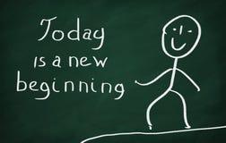 Heutiger Tag ist ein neuer Anfang Lizenzfreies Stockfoto