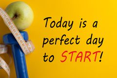 Heutiger Tag ist ein perfekter Tag, zu beginnen lizenzfreies stockbild