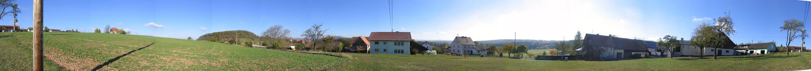 Heuvel 360 van het land Royalty-vrije Stock Foto's