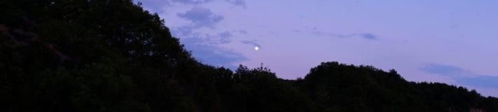 Heuvel en maan vector illustratie