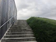 Heuvel met gras stock afbeelding