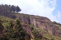 Heuvel met hemellandschap Royalty-vrije Stock Fotografie