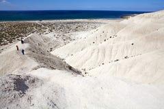 Heuvel na Punta Loma dichtbij Puerto Madryn, een stad in Chubut-Provincie, Patagonië, Argentinië stock foto