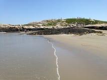 Heuvel op het strand stock afbeeldingen