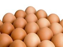 Heuvel van bruine eieren Royalty-vrije Stock Foto's